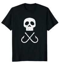 T-Shirt Skull Crossed Hooks